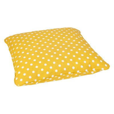 Grinnell Indoor/Outdoor Euro Pillow Fabric: Yellow Dots