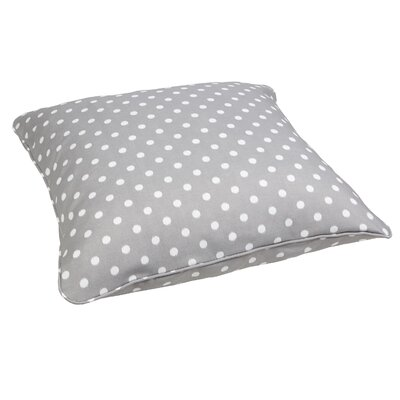 Grinnell Indoor/Outdoor Euro Pillow Fabric: Dots Grey