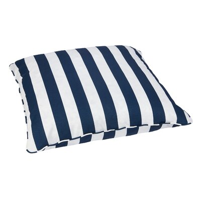 Petronia Outdoor Sunbrella Euro Pillow Fabric: Navy Stripes