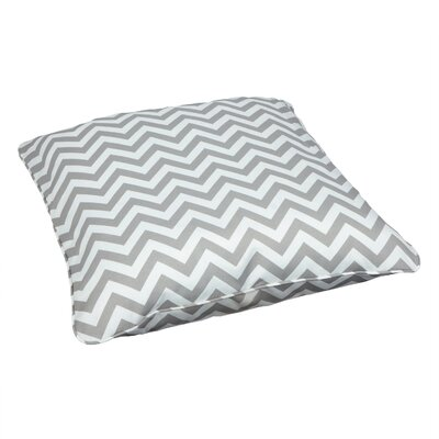 Truesdell Indoor/Outdoor Euro Pillow Fabric: Chevron Grey