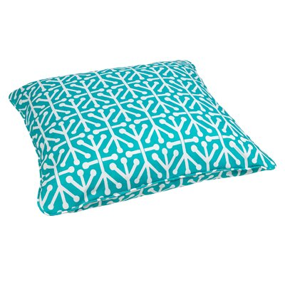 Antiqua Indoor/Outdoor Euro Pillow Fabric: Dossett Teal
