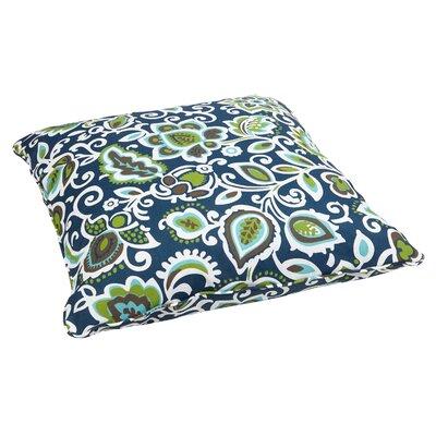Mejia Indoor/Outdoor Euro Pillow Fabric: Floral Navy