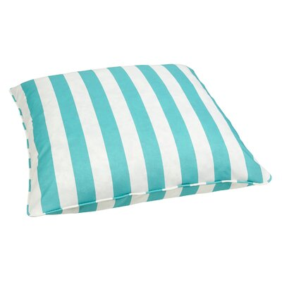 Summerland Indoor/Outdoor Euro Pillow Fabric: Stripe Aqua