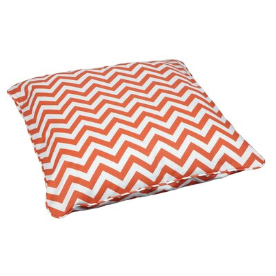 Crouseville Indoor/Outdoor Euro Pillow Fabric: Chevron Orange