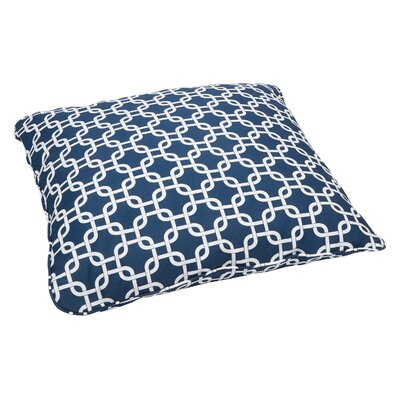 Shearwater Indoor/Outdoor Euro Pillow Fabric: Knotted Navy