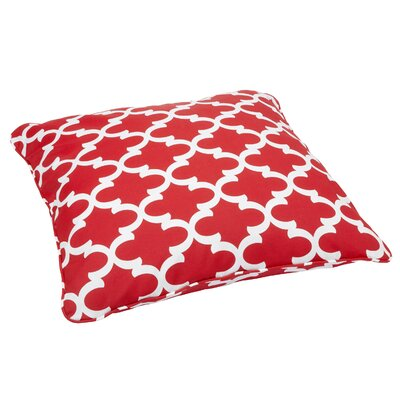 Ellyson Indoor/Outdoor Euro Pillow Fabric: Scalloped Red