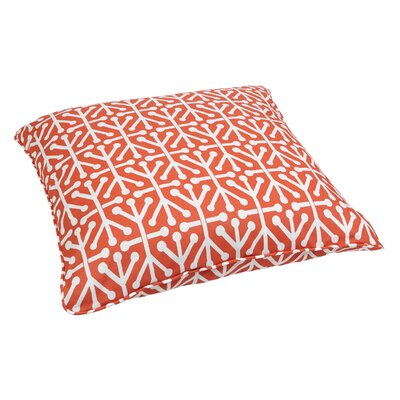 Antiqua Indoor/Outdoor Euro Pillow Fabric: Dossett Orange