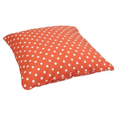 Sabornton Indoor/Outdoor Euro Pillow Fabric: Dots Orange
