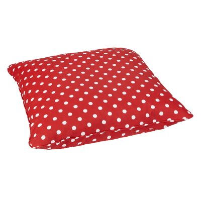 Sabornton Indoor/Outdoor Euro Pillow Fabric: Red Dots