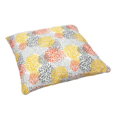 Brackenville Indoor/Outdoor Euro Pillow Fabric: Bloom Tango