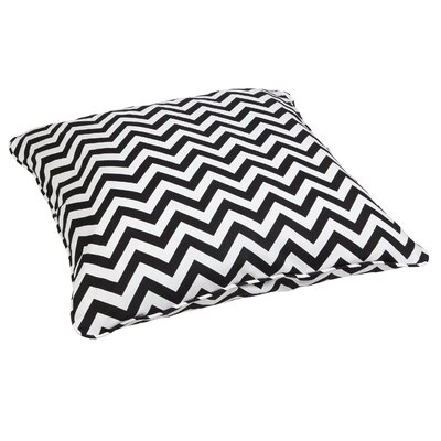 Truesdell Indoor/Outdoor Euro Pillow Fabric: Chevron Black