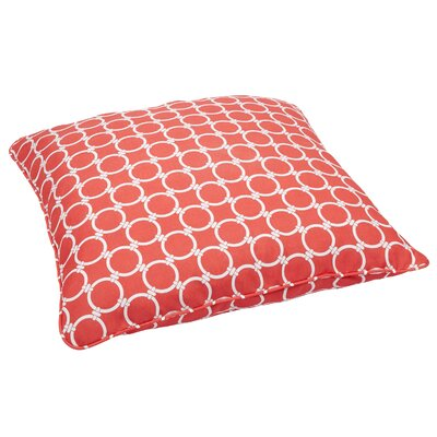 Eisenhower Indoor/Outdoor Euro Pillow Fabric: Link Coral