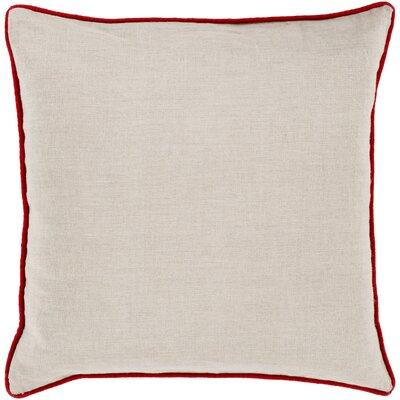 Franklin Linen Throw Pillow Size: 18, Color: Red, Filler: Down