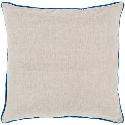 Franklin Linen Throw Pillow Size: 22, Color: Blue, Filler: Down
