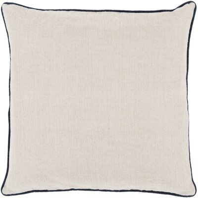 Franklin Linen Throw Pillow Size: 18, Color: Dark Blue, Filler: Down