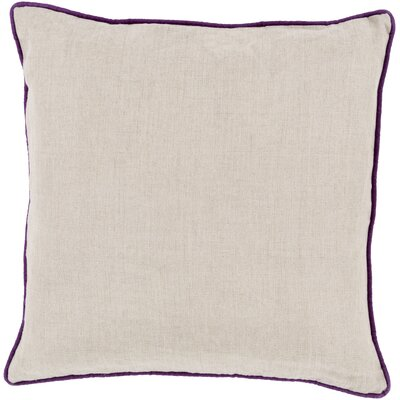 Franklin Linen Throw Pillow Size: 18, Color: Purple, Filler: Down