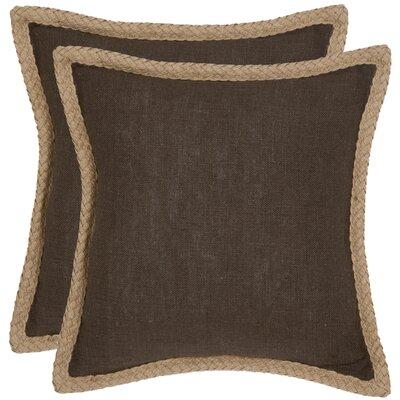 Felicia�100% Cotton Throw Pillow Color: Brown