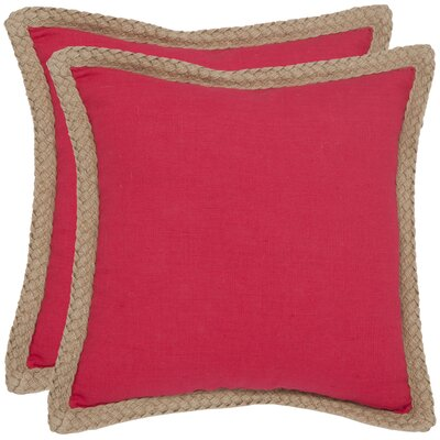 Felicia�100% Cotton Throw Pillow Color: Red