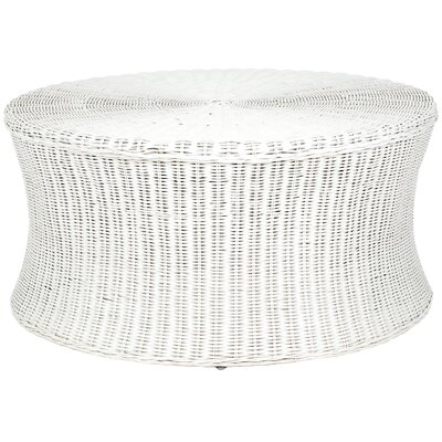Bowling Green Cocktail Ottoman Finish: White