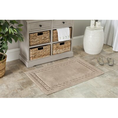 Boca Del Mar Bath Area Rug Size: 21 H x 34 W, Color: White