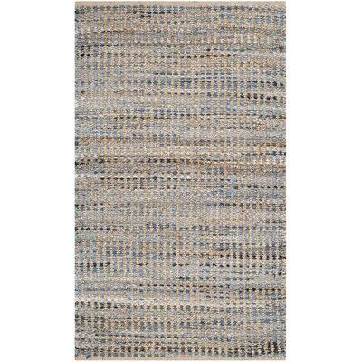 Gilchrist Natural/Blue Area Rug Rug Size: 3 x 5