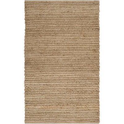 Gilchrist Hand-Woven Brown Area Rug Rug Size: 4 x 6
