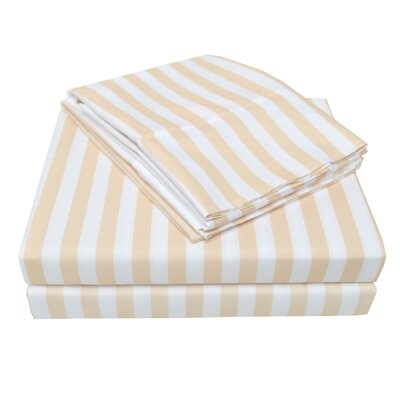 Polk Sheet Set Size: Full, Color: Beige