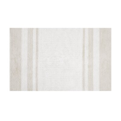 Bellair-Meadowbrook Terrace Bath Rug Size: 27 x 45, Color: White/Taupe