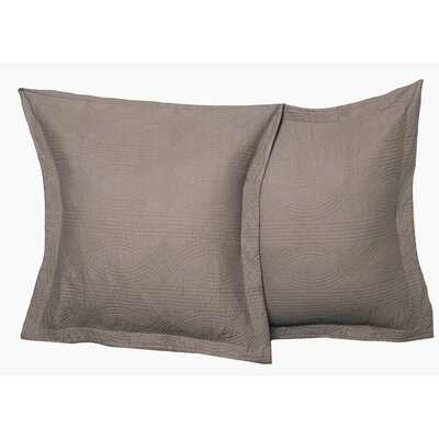 Bay Quilted European Sham Color: Taupe