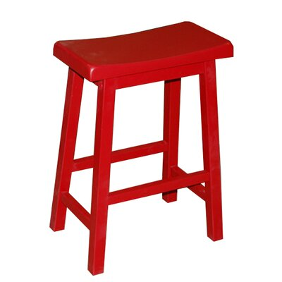 Kirkwood 24 Bar Stool Finish: Red