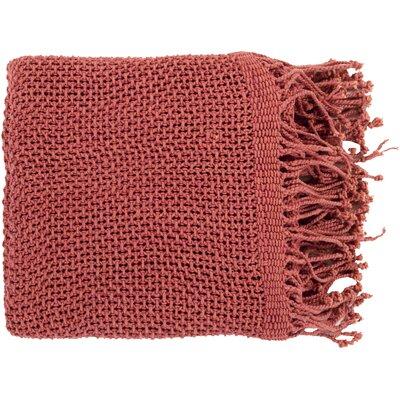 Buckhead Ridge Cotton Throw Blanket Color: Burgundy