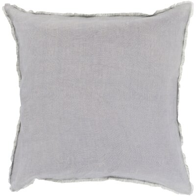 Bard Linen Throw Pillow Size: 18 H x 18 W x 4 D, Color: Slate, Filler: Polyester