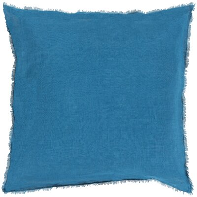 Bard Linen Throw Pillow Size: 18 H x 18 W x 4 D, Color: Teal, Filler: Polyester