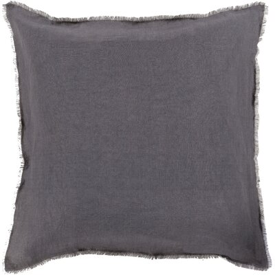 Bard Linen Throw Pillow Size: 18 H x 18 W x 4 D, Color: Light Gray/Black, Filler: Polyester
