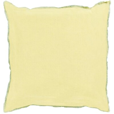 Bard Linen Throw Pillow Size: 22 H x 22 W x 4 D, Color: Lime/Teal, Filler: Down