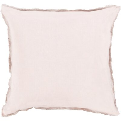 Bard Linen Throw Pillow Size: 22 H x 22 W x 4 D, Color: Taupe, Filler: Down