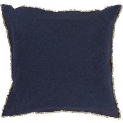 Bard Linen Throw Pillow Size: 20 H x 20 W x 4 D, Color: Navy/right Yellow, Filler: Polyester
