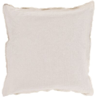 Bard Linen Throw Pillow Size: 18 H x 18 W x 4 D, Color: Beige, Filler: Down