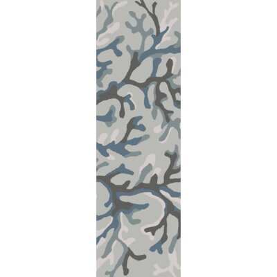 Cherrywood Hand-Tufted Blue/Brown Area Rug Rug Size: Runner 26 x 8