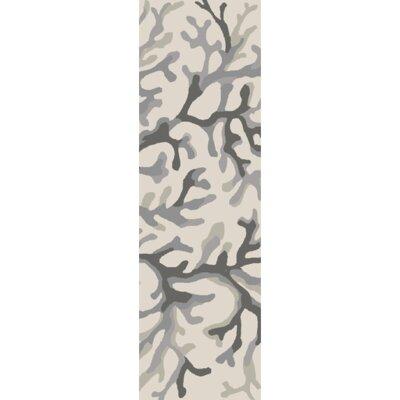 Bennett Light Gray/Magenta Area Rug Rug Size: Runner 26 x 8
