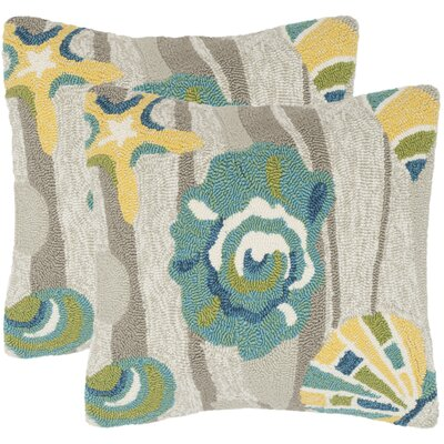Tulare Beyond The Sea Decorative Indoor/Outdoor Throw Pillow Color: Tropical Gray