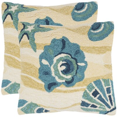 Tulare Beyond The Sea Decorative Indoor/Outdoor Throw Pillow Color: Beach Yellow