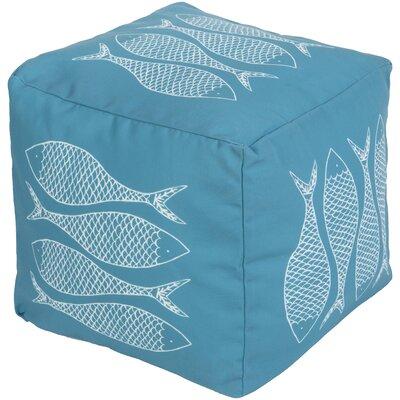 Christiansburg Pouf Upholstery: Aqua