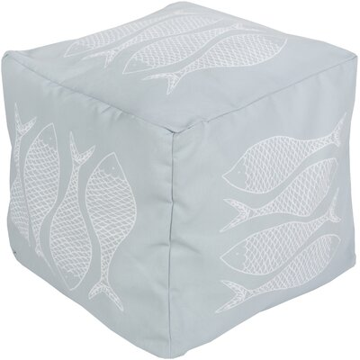 Christiansburg Pouf Ottoman Upholstery: Light Blue