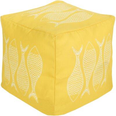 Christiansburg Pouf Ottoman Upholstery: Sunflower