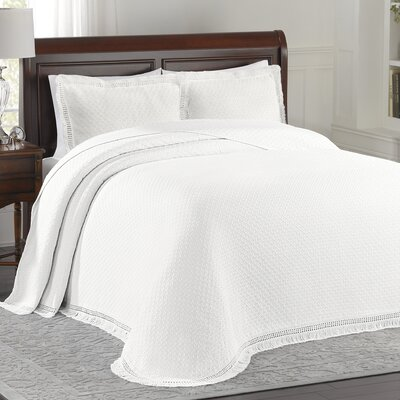 Beverly Hills Bedspread Size: Full, Color: White