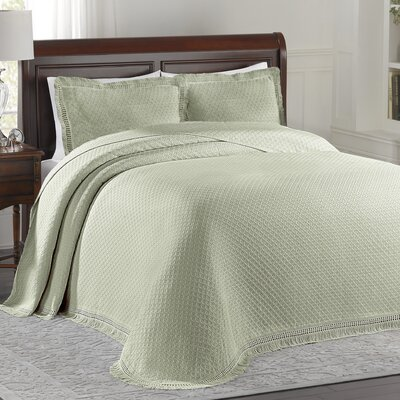 Beverly Hills Bedspread Size: Twin, Color: Sage