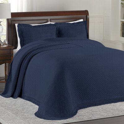 Beverly Hills Bedspread Size: Queen, Color: Blue