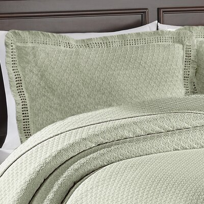 Beverly Hills Woven Jacquard Standard Sham Color: Sage