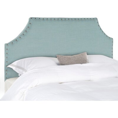 Bainsby Upholstered Panel Headboard Size: King, Color: Sky Blue